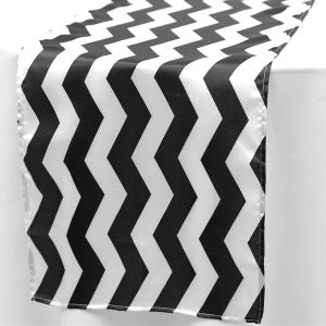 black-chevron-table-runner