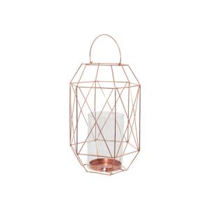 rosegold-geometric-hexagon-lantern-with-glass-holder