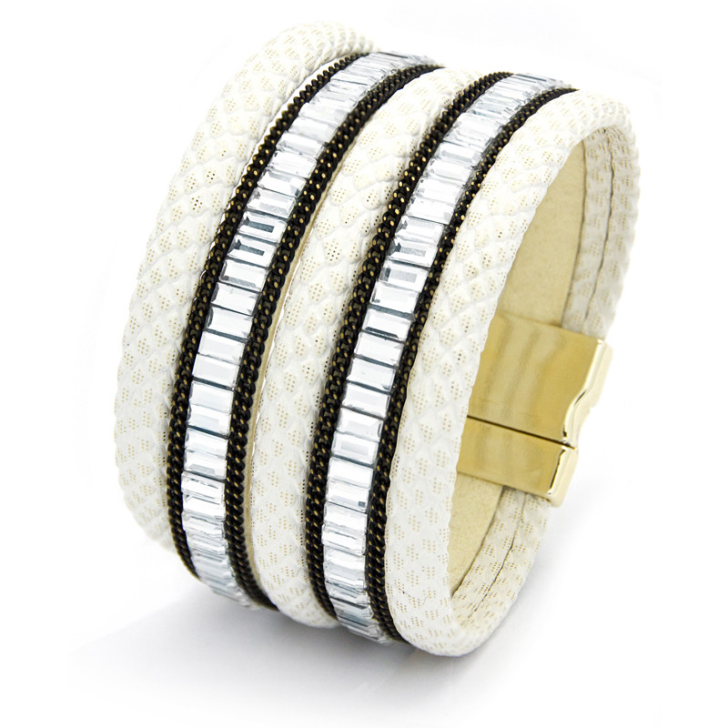 white-&-crystal-encrusted-multiple-row-bracelet