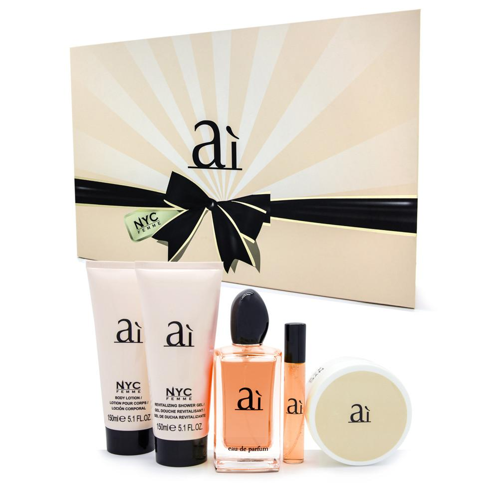 ai--eau-de-parfum-set-100ml--15ml-lady-powder-80g- perfumed-shower-gel-&-body-lotion-150ml