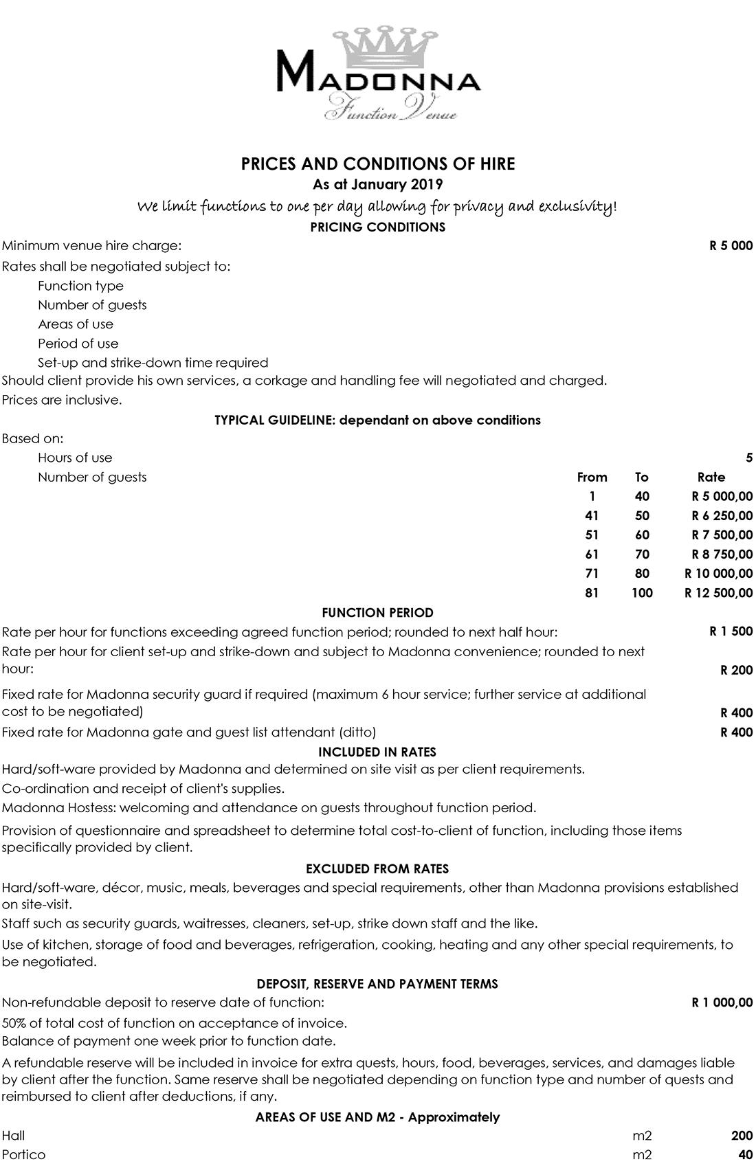 Bryanston Sandton Venue Function hire